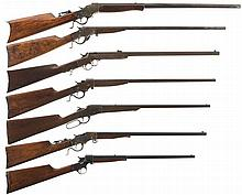 Seven Single Shot Rifles -A) Stevens Model 44 Rifle