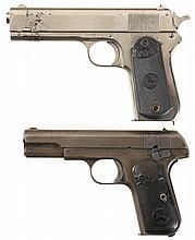 Two Colt Semi-Automatic Pocket Pistols -A) Colt 1903 Hammer Pistol