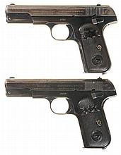 Two Colt 1903 Hammerless Pocket Semi-Automatic Pistols -A) Colt Model 1903 Pistol