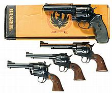 Four Ruger Revolvers -A) Ruger Redhawk Double Action Revolver with Box