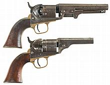 Two Antique Colt Revolvers -A) Colt Model 1849 Pocket Percussion Revolver