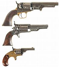 Three Colt Revolvers -A) Colt Model 1849 Pocket Percussion Revolver