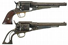 Collector's Lot of Two Remington New Model Army Revolvers -A) Remington New Model Army Percussion Revolver