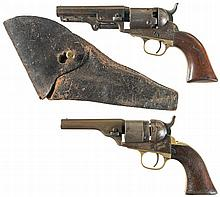Collector's Lot of Two Colt Antique Revolvers -A) Colt Model 1849 Percussion Revolver with Holster