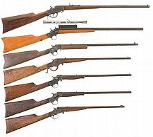Seven Single Shot Rifles -A) Hopkins & Allen Rifle