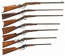 Seven Single Shot Long Guns -A) Stevens No. 44 1/2 Rifle
