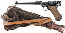 Erfurt 1914 Dated Artillery Luger Pistol with Rig