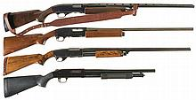 Four Slide Action Shotguns -A) Winchester Model 1200 20 Gauge Shotgun with Sling