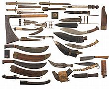 Large Grouping of Melee Weapons and Two Axis Medals