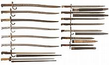 Fifteen European Bayonets
