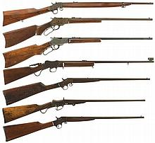Seven Single Shot Rifles -A) Meriden Rifle
