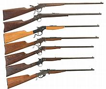 Seven Single Shot Rifles -A) Page-Lewis Model C Olympic Rifle
