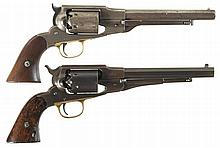 Two Remington Navy-Caliber Percussion Revolvers -A) Remington-Beals Revolver
