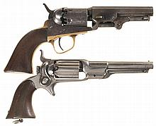Two Colt Percussion Pocket Revolvers -A) Colt Model 1849 Revolver