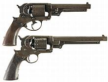 Collector's Lot of Two Starr Arms Percussion Revolvers -A) U.S. Starr Model 1858 Army Double Action Revolver