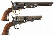 Collector's Lot of Two Colt Percussion Revolvers -A) Colt Model 1862 Police Revolver