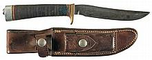 Inscribed Randall Model 3-5 Hunter Knife with Sheath and Vietnam War Attribution