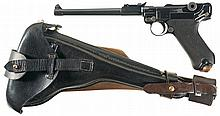 DWM 1914 Dated Artillery Luger Semi-Automatic Pistol with Accessories