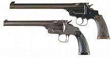 Two Smith & Wesson Single Shot Target Pistols -A) S&W; Model 1891 Third Model Double Action Pistol