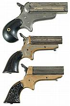 Collector's Lot of Three Sharps Pepperbox Pistols -A) C. Sharps Model 4C Pistol