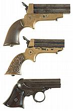 Three Antique American Pepperbox Pistols -A) Sharps Model 2A Pistol