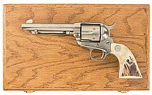 Cased First Generation Colt Single Action Army Revolver with Stag Grips