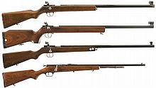 Four Bolt Action .22 Rifles -A) Schultz & Larsen Single Shot Target Rifle