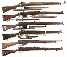 Five Enfield Bolt Action Rifles and One Shotgun -A) British Contract Eddystone Pattern 14 Rifle
