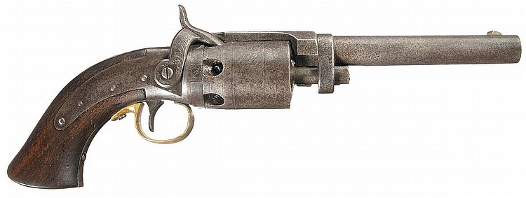 Scarce Massachusetts Arms Company Wesson  &  Leavitt Patent Dragoon Revolver