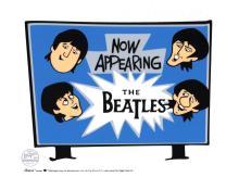 The Beatles Animation Cartoon Cell