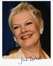 Judy Dench Autographed Photograph