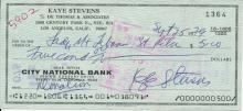Kaye Stevens Signed Bank Draft