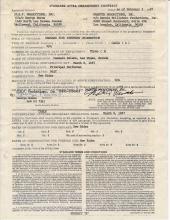 George Burns Signed 1987 Caesars Hotel Appearance