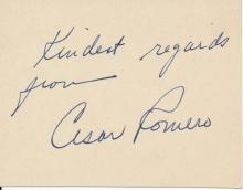 Cesar Romero Autograph