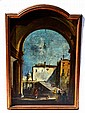 Italian, Oil on Canvas - Cityscape with Figures