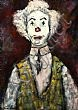 Gladys Maccabe, HRUA - CLOWN, Oil on Board, 20 x