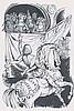 PICHARD - Ensemble de 5 dessins à l'encre de chine sur le moyen...