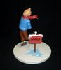 HERGE (Hergé) - Tintin danger - Statuette en métal en résine de Tintin...