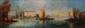 P. GILLINI Venise, le palais des Doges Huile sur