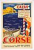ANONYME    Affiche. La Corse, Calvi - 60 x 40 cm