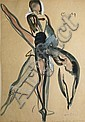 Jean TOTH  Classical ballet - Ballet of Monte Carlo - The black swan  Six watercolour and gouache paintings, signed and annotated.  31 x 22 cm each., Jean Toth, Click for value