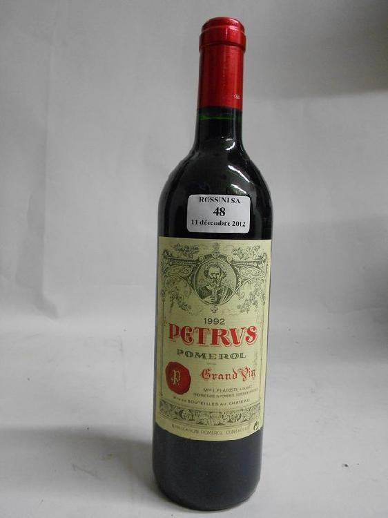 1 bouteille PETRUS, Pomerol  1992
