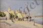ALLÈGRE Raymond, 1857-1933 Voiliers à quai, Saint-Tropez huile sur panneau, signé et situé en bas à droite,  22 x 33 cm.