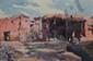 DERCHE Jules Henri, né en 1896 Vallée de l'Ourika, village de Zigni Oukzil, 1927 aquarelle (petite tache), signée, située et datée en bas à gauche,  27 x 41 cm.