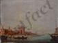 ÉCOLE du XIXe siècle Rivages orientaux deux huile sur panneaux formant pendants (usures), monogramme en bas à gauche sur chaque : F.G.,  27 x 35 cm chaque.