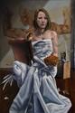 LABRUYÈRE Thierry, né en 1966 S de Sibylle, 2008 huile sur toile, signée, titrée et datée au dos,  150 x 100 cm.