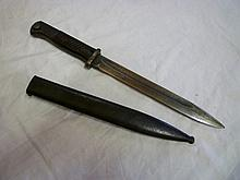 A Second War German Mauser bayonet with single