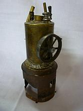 A brass part-vertical steam engine (af)
