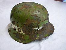 An original Second War German steel helmet,