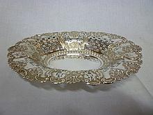 A large Edward VII silver oval ornamental basket w